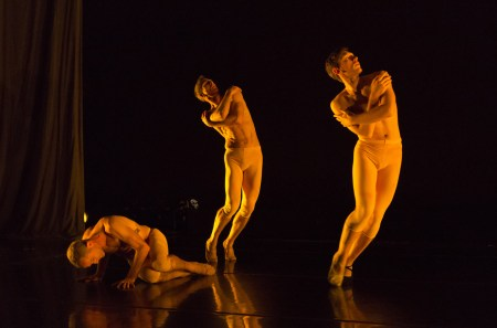 "From left: Skinner, Kirk, Luebbert in ""T(h)rilogy."" Photo: Blaine Truitt Covert"