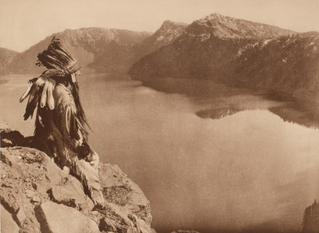 "Edward Sheriff Curtis (American, 1868–1952), ""Crater Lake,"" 1923, plate 463, from the portfolio The North American Indian, volume 13, photogravure, gift of Henrietta E. Failing."