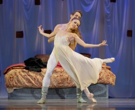 "Ansa Deguchi and Brian Simcoe in James Canfield's ""Romeo & Juliet"" at Oregon Ballet Theatre. Photo: Blaine Truitt Covert"