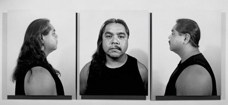"""Half Indian/Half Mexican,"" gelatin silver prints, 1991."