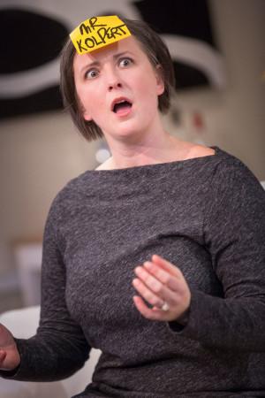 No, Stephanie Gaslin isn't really Mr. Kolpert—she's Edith in Third Rail Rep's 'Mr. Kolpert'/Owen Carey