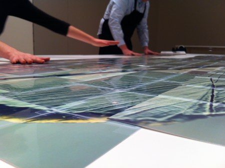The assembly of Katsushige Nakahashi's Zero Project at Cooley Gallery, Reed College/Photo by Grace Kook-Anderson