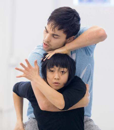Viktor Usov and Ching Ching Wong in rehearsal. Photo: Blaine Truitt Covert