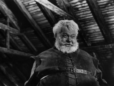 "Orson Welles as Falstaff in ""Chimes at Midnight."""
