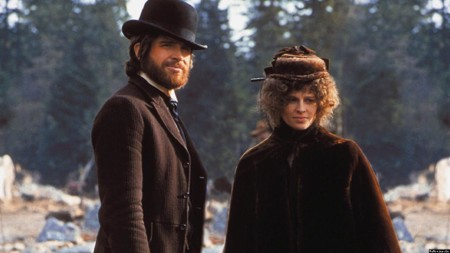 "Warren Beatty and Julie Christie in ""McCabe and Mrs. Miller."""
