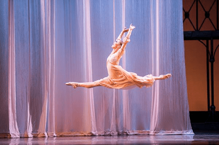 "The hard work pays off: Ansa Deguchi as Juliet in Canfield's ""R&J."" Photo: Jingzi Zhao"
