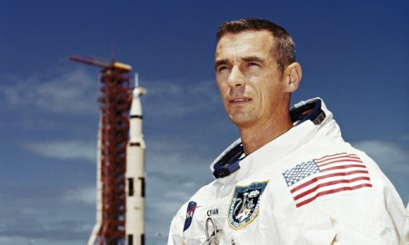 "Astronaut Eugene Cernan, the subject of the documentary ""Last Man on the Moon"""