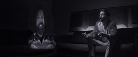 "Reggie Watts and Benjamin Dickinson in ""Creative Control."""