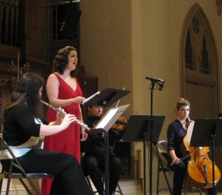 Estelí Gomez sang new music by University of Oregon composers at Portland's Old Church and Eugene's Beall Concert Hall. Photo: Gary Ferrington.