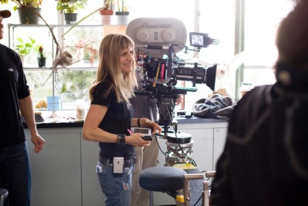 """Director Catherine Hardwicke, the guest of honor at this year's Portland Oregon Women's FIlm Festival, on the set of """"Twilight."""""""