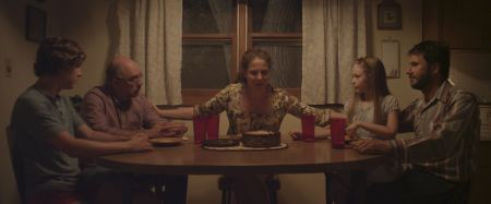 "Not the only awkward dinner-table conversation in Matt Sobel's film ""Take Me to the River"""
