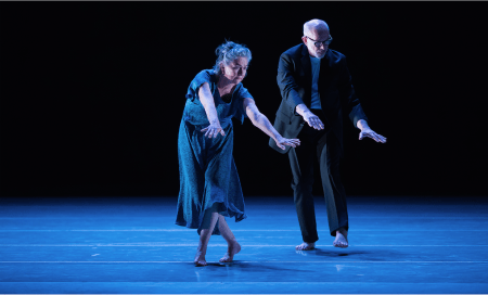 "Susan Banyas and Gregg Bielemeier in Nicolo Fonte's ""Beautiful Decay"" at Oregon Ballet Theatre. Photo: Yi Yin"