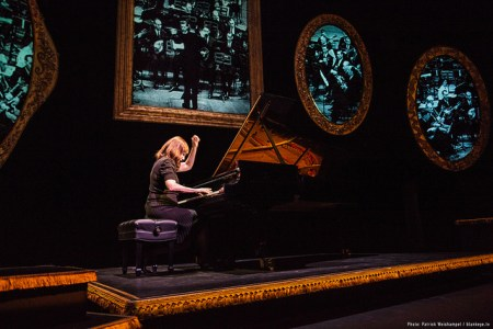 Mona Golabek stars in 'The Pianist of Willesden Lane' at Portland Center Stage. Photo: Patrick Weishampel/ blankeye.tv.