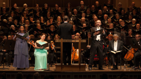 Portland Symphonic Choir and Portland Sinfonietta performed 'A Child of Our Time' in Portland. Photo: Robert Holcomb, Terra Design Photography.