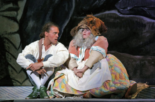 Moore and Galka as Papageno and Papagena. Photo: Cory Weaver