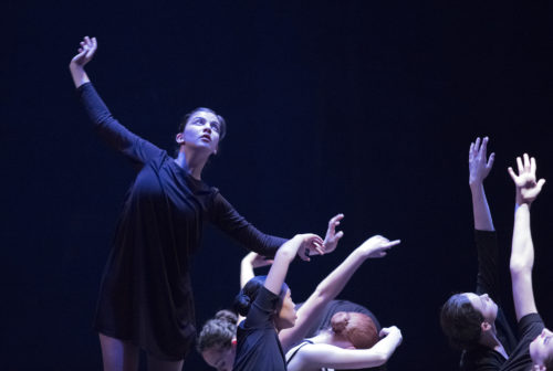 Yasmine Husted and company dance Bielemeier. Photo: Blaine Truitt Covert