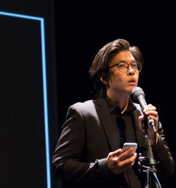 Milton Lim/Hong Kong Exile performed at 2016 Risk/Reward Festival. Photo : Chelsea Petrakis.