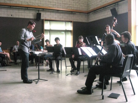 The American Creators Ensemble formed by Symposium participants.