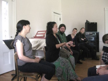 Members of FearNoMusic joined Hennings, Barth and Kyr in a mentoring session last year.