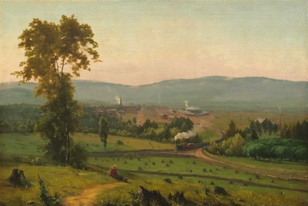 "George Inness, ""Lackawanna Valley"", 1855, Oil on canvas, 2′ 10″ x 4′ 2″/National Gallery of Art"