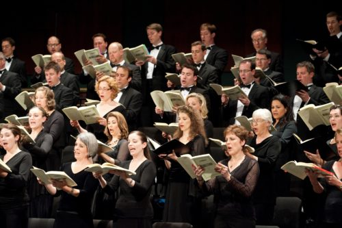 The festival chorus, bringing it all home. Photo: Oregon Bach Festival