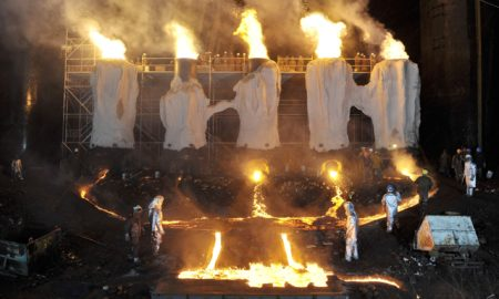"The slag flows in ""River of Fundament."""