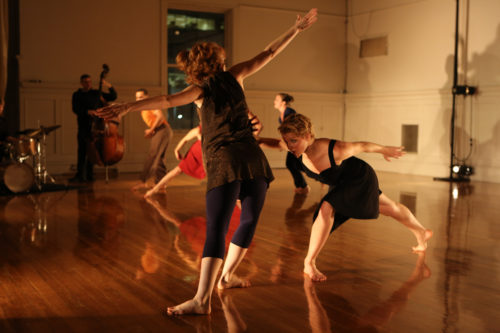 "There Mathern's ""Gather: a dance about convergence,"" performed in 2012 in Conduit's original home in the Pythian Building. Photo: Gordon Wilson"