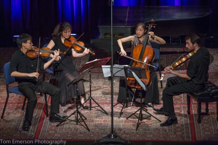 The Zora Quartet performed at Alberta Rose Theatre. Photo: Tom Emerson.