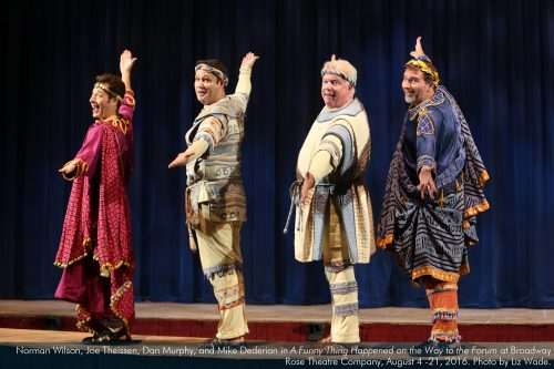 "Norman Wilson, Joe Theissen, Dan Murphy, Mike Dederian in ""Forum."" Photo: Liz Wade"