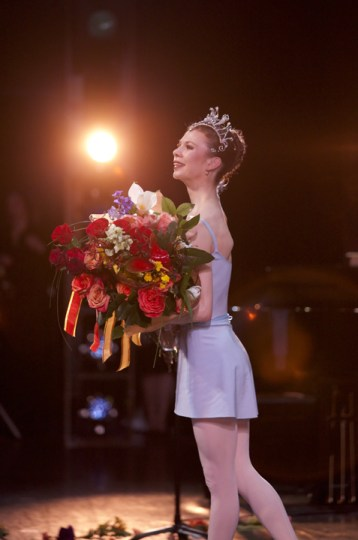 ... and with her bouquet. Photo: Blaine Truitt Covert