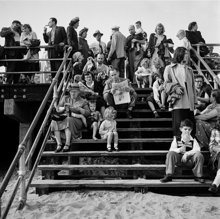 "Harold Feinstein, ""Boardwalk Stairs"",1950/Courtesy Blue Sky Gallery"