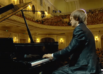 3 - Photo: Pianist Dmitry Masleev. XV International Tchaikovsky Competition medici.tv webcast, Moscow.