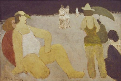 "Milton Avery, ""Bathers, Coney Island,"" 1934, oil on canvas, 32 x 48 inches, Portland Art Museum"