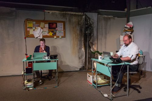 David Wyllie (Nick) and Tom Mounsey (Vince). Photo: Gary Norman