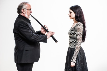 Bruce Dickey and Hana Blažíková perform with Portland Baroque Orchestra.