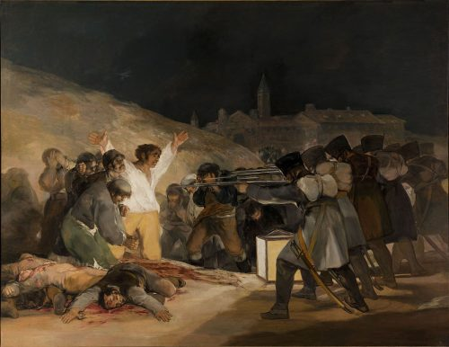 """Francisco Goya, """"The Third of May,"""" 1814, oil on canvas, Prado Museum, Madrid. Wikimedia Commons"""