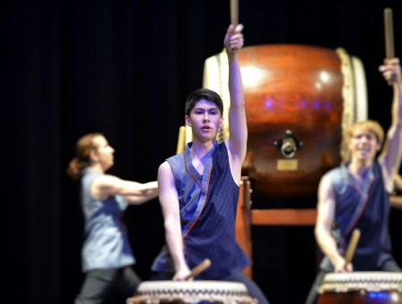 Portland Taiko performed with TaikoProject. Photo: Brian Sweeney.