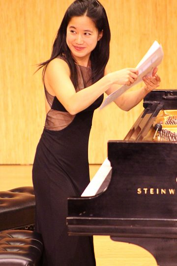 Claudia Chan performed at The Clearing. Photo: Rich Brase.