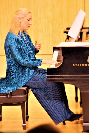 Tamara Stefanovich performed and curated in Portland Piano International's The Clearing. Photo: Rich Brase
