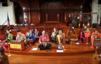 Venerable Showers of Beauty plays Javanese gamelan music Saturday.
