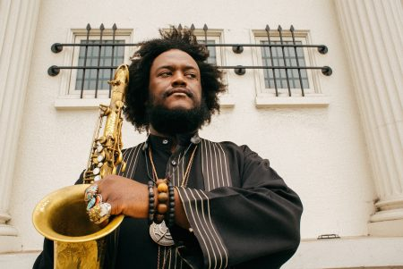 Kamasi Washington performs in Portland Thursday.