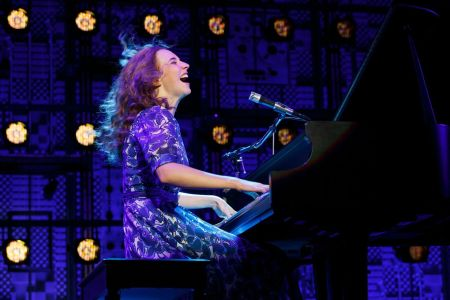 "Carnegie Hall. Julia Knitel (""Carole King"") in 'Beautiful.' Photo: Joan Marcus."