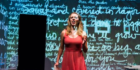 PSU Opera's 'The place where you Started,' starring Hannah Consenz, concludes this weekend. Photo: Chad Lanning.