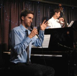 Torrey Newhart (piano), Sean Peterson (bass) perform at Eugene's Jazz Station. Photo: Gary Ferrington.
