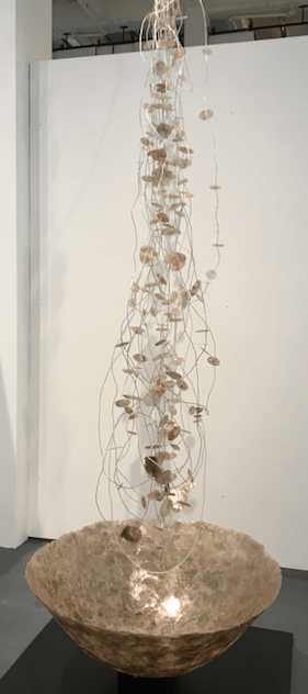 "Dana Lynn Louis, ""Gift,"" 2017; mica, glass beads, and wire. Courtesy of the artist and the Russo Lee Gallery, Portland. Oregon ArtsWatch photo"