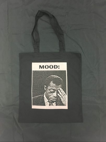 """""""Dis Tew Much To Carry"""" tote bag by Melanie Stevens"""
