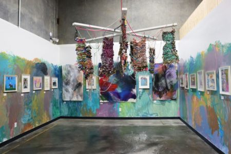 Holiday Sale - Installation view with chandelier
