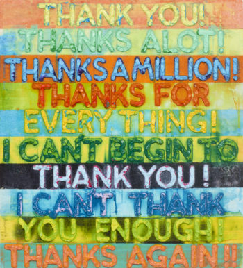 Thank You - Mel Bochner