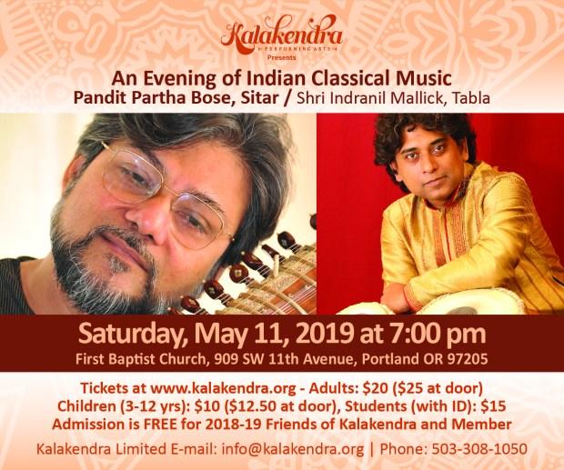 Kalakendra Pandit Bartha Bose Sitar May 11, 2019