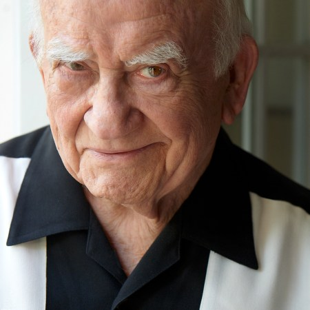"Ed Asner, who says a real Democrat is a euphemism for socialist, characterizes the current political environment as ""like the monkeys escaped the zoo."" Photo by: Tim Leyes"